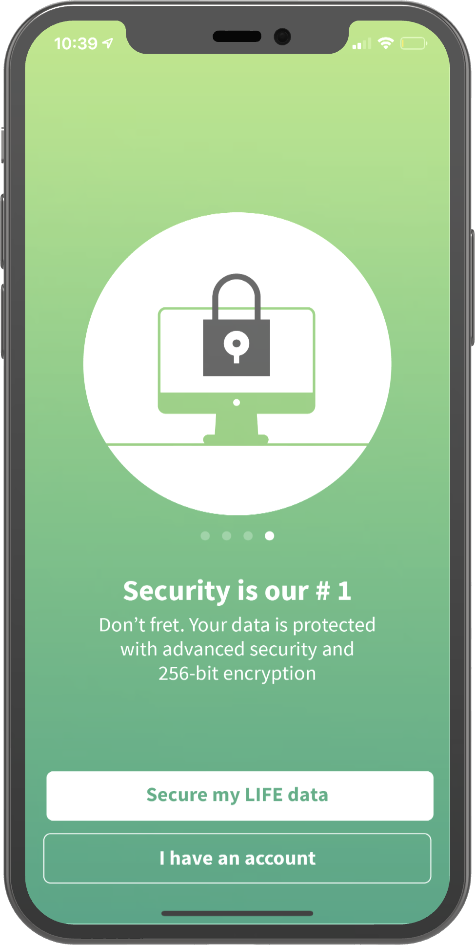 Security is our #1 screenshot